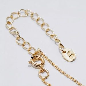 AV Jewelry - Gold over Sterling Onyx Moonstone Charms Necklace